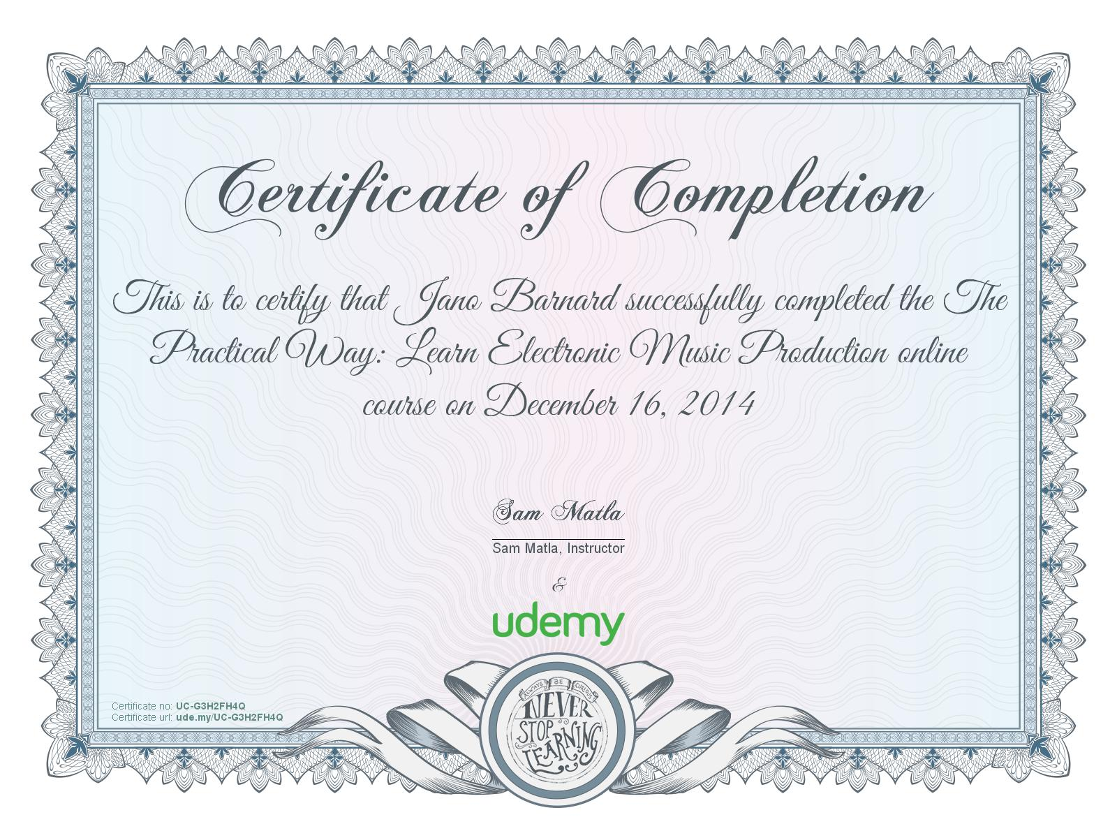 make my own certificates