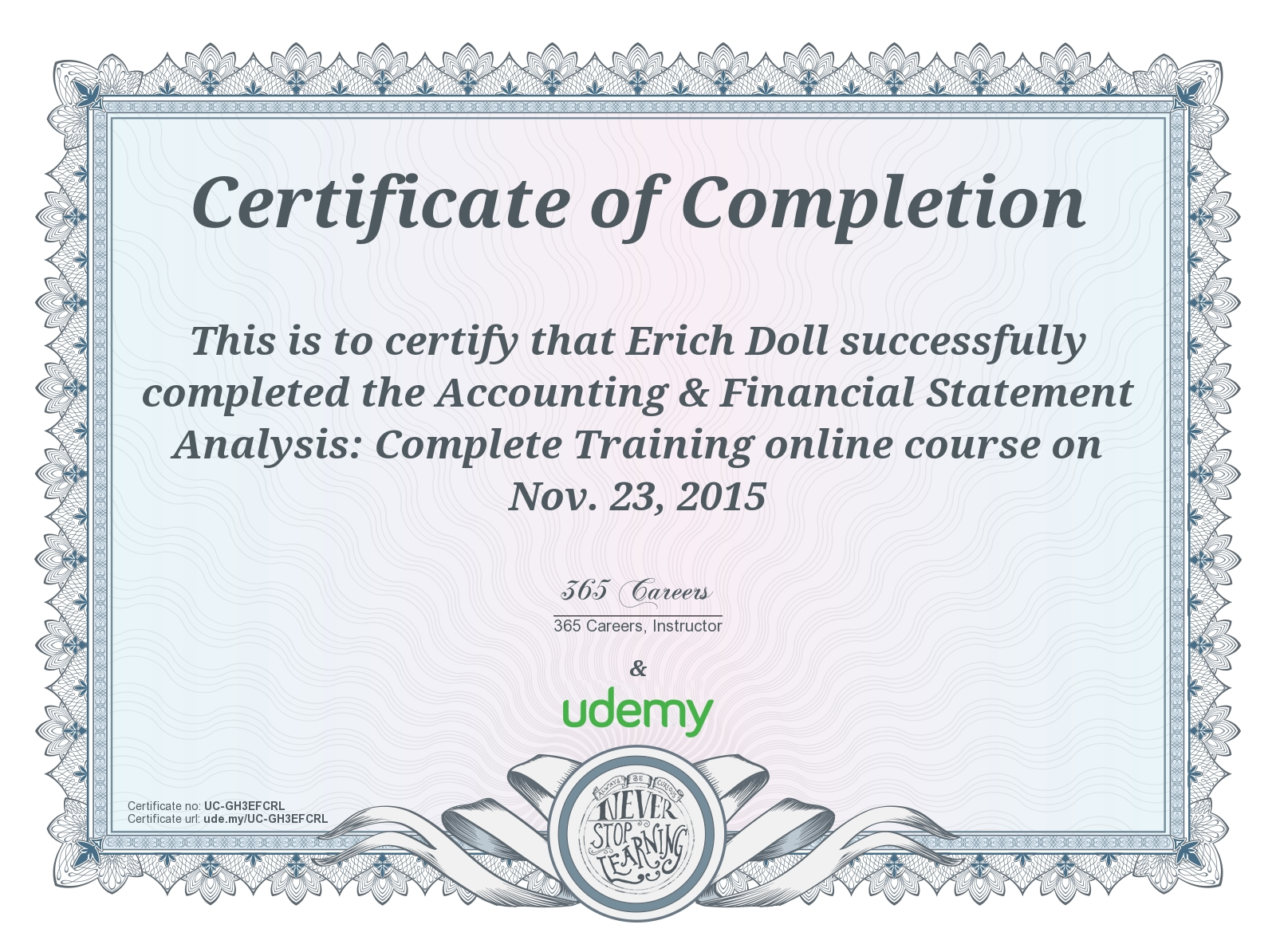 Udemy Accounting Certificate The Business Physicians
