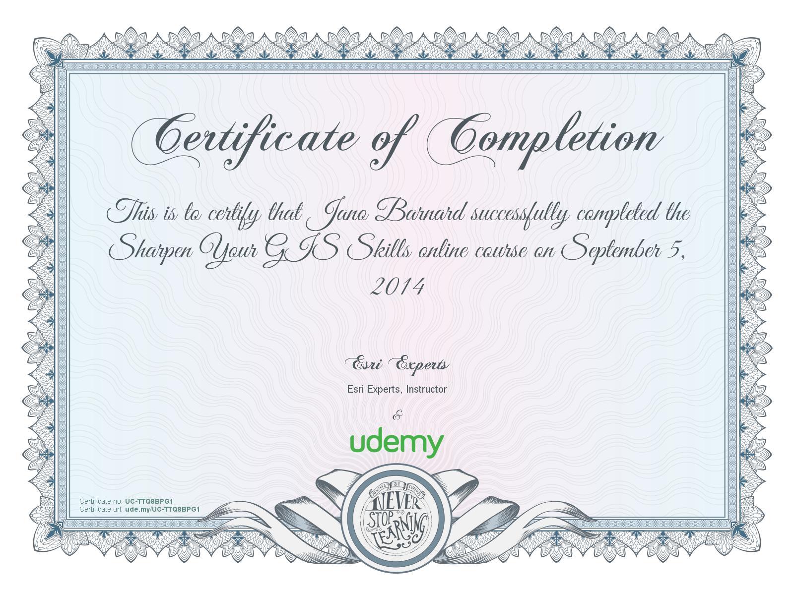 Certificates Jano Barnard