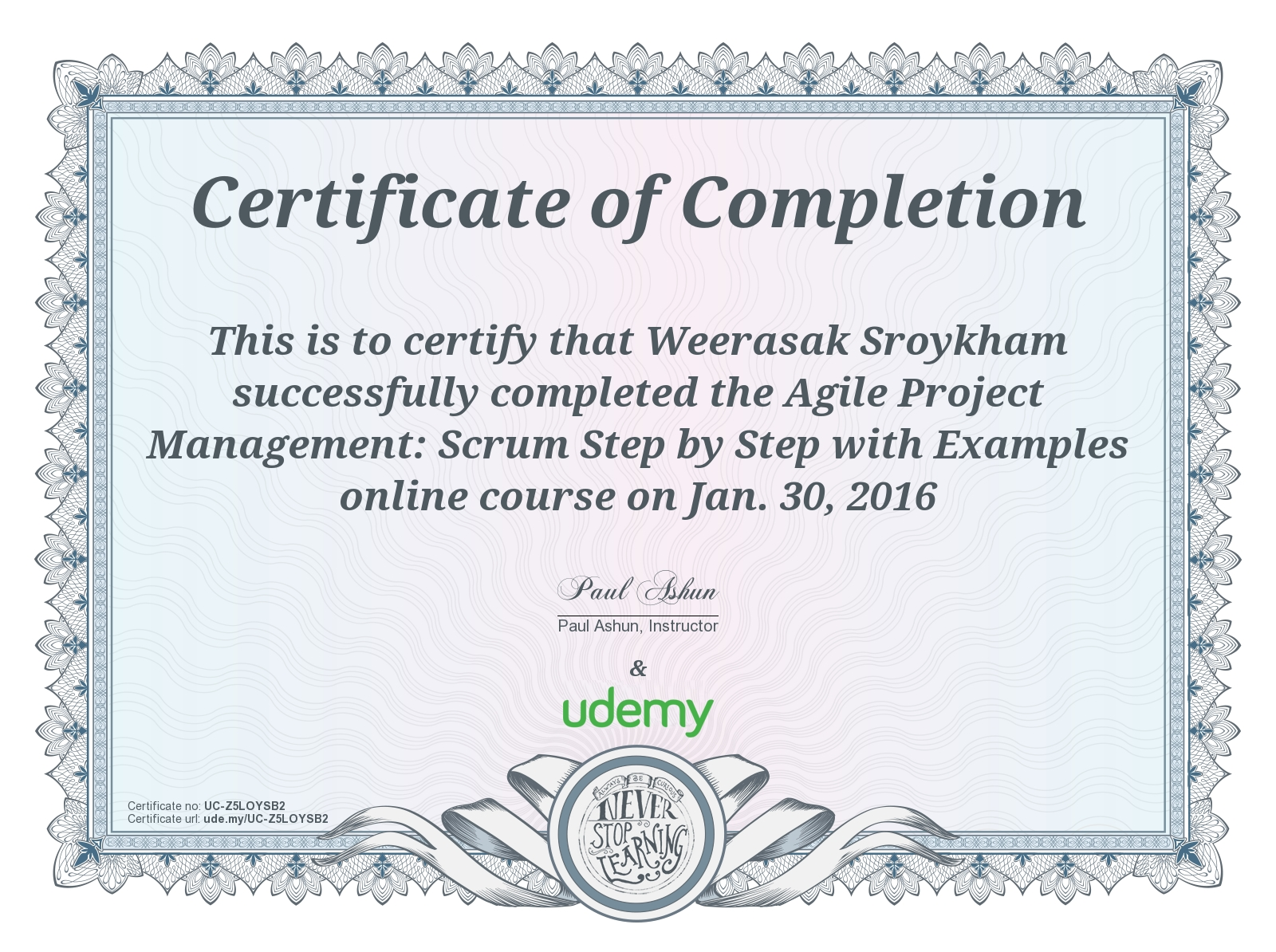Course Agile Project Management Scrum Step By Step With Examples On